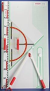 WISSNER® 165101.M00 - Juego de pizarras magnéticas de Pared (60 cm), Color Blanco