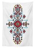 Yeuss Geometrische Tischdecke Outdoor, mexikanischen African Ethnic Tribal Ornament Folklore Einzigartiges Vintage-Muste