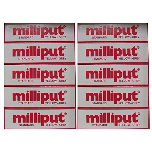 Milliput Epoxidharzkit-Standard, gelb/grau 113.4 g-Set, 10 Stück -