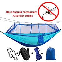 2 person jungle camping hammock with mosquito net,durable and portable hanging bed sleeping hammock swing double tent for outdoor camping hiking