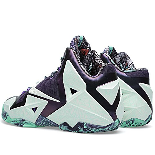 Scarpe da Basket da Uomo Nike Lebron Xi All Star AS Verde Cashmere / Viola Fluo