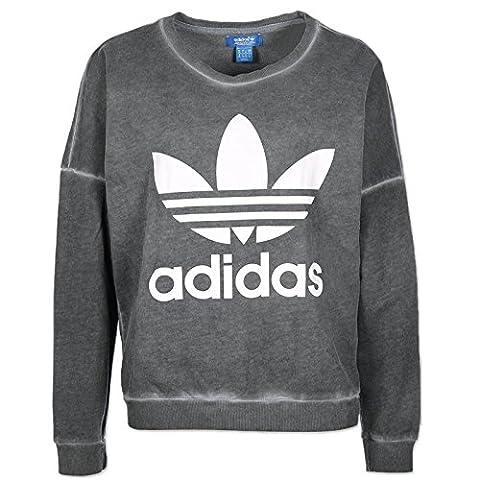 Adidas Pe Washed Sweat Damen Sweatshirt 42 grau