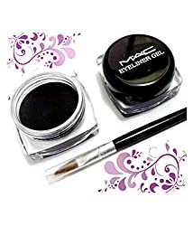 MAC Eyeliner Smudge Proof & Waterproof Gel Eyeliner With Brush-Black