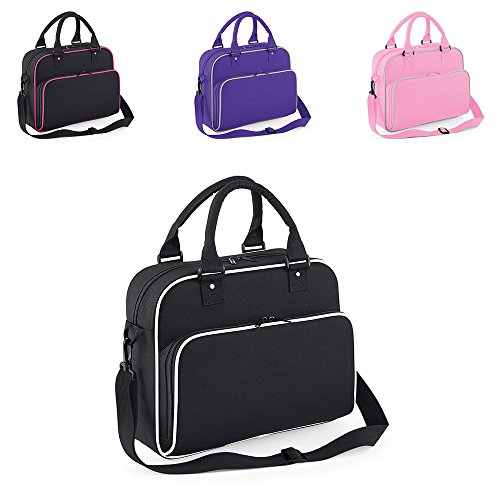 Childrens BagBase Detachable Adjustable Strap Retro Style Dance Bag In 4 Colours One Size