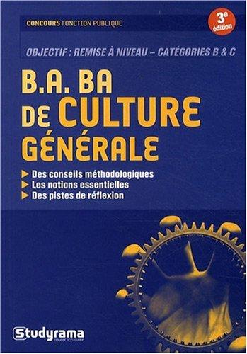 B.a Ba de Culture Generale 3edt