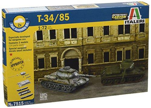 Italeri 510007515 - 1:72 Russischer Panzer T-34/85 Fast Assembly Kit