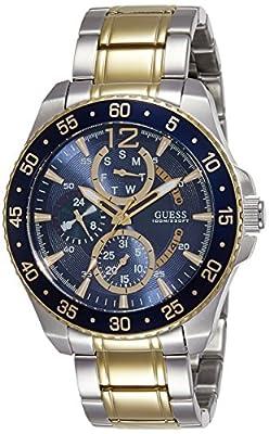 Guess Reloj Análogo clásico para Hombre de Cuarzo con Correa en Acero Inoxidable W0797G1