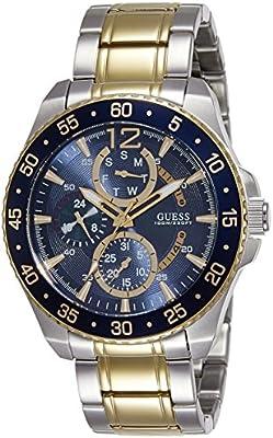 Guess W0797G1 - Reloj de pulsera para hombre, color blanco / plata