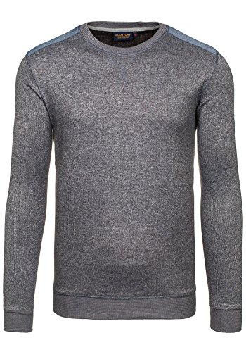 BOLF – Sweat-shirt – Pull de sport – GLO STORY 9037 – Homme Anthracite