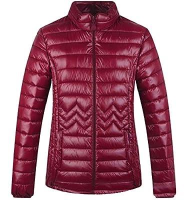 OneTwoTG Women's Stylish Packable Zip Ultra Lightweight Coats Goose Down Jacket
