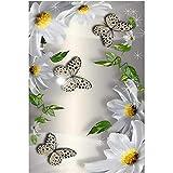 Olivialulu 5D Fai da Te Piazza Piena / Rotondo Trapano Diamante Pittura HD Fiori Farfalla Punto Croce con Strass Mosaico casa Regalo di Nozze Decorazioni H282Frameless, 40 * 50 cm