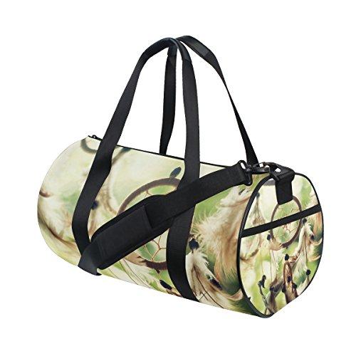 jstel Atrapasueños bolsa de deporte gimnasio para hombres y mujeres bolsa de viaje de viaje