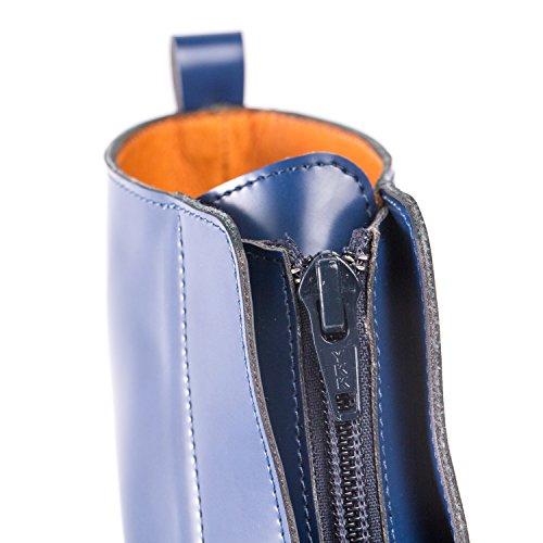 NAE Zipme Blau - Damen Vegan Stiefel - 4