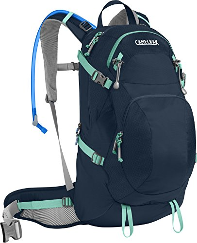 CamelBak Products LLC Damen Sequoia 22 Hydration Pack Trinkrucksack, Navy Blazer/Mint Green, 100 oz