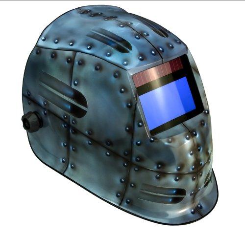 True-Fusion Rivets IQ1100 Solarbetriebene Automatisch verdunkelnd Schweißhelm / Maske mit Schleif-Funktion + GRATIS Helmtasche, Ersatzlinse und Schweißband