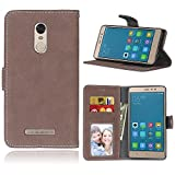 Cozy hut Per Xiaomi Hongmi Redmi Note 3 Brown Custodia ,[Retro] [Matte] Modello Design Con Cinturino da Polso Magnetico Snap-on Book style Internamente Silicone TPU Custodie Case in pelle Protettiva Flip Cover Per Xiaomi Hongmi Redmi Note 3 - Brown Matte