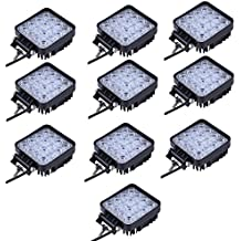 10x Las luces LED resistente al agua Spotlight IP65 48W luz de trabajo del Lampara de coche Faros de trabajo puerta del Foco led