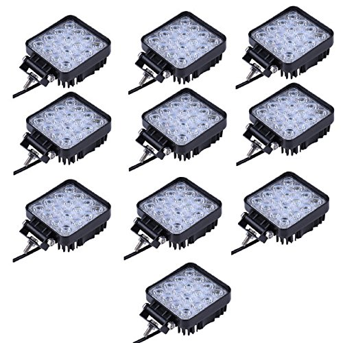 48W Led Foco Lampara de coche Faros de trabajo led Luces diurna Luz de la luz de los faros de campo a traves de SUV UTV ATV faros (NFW48W-10)