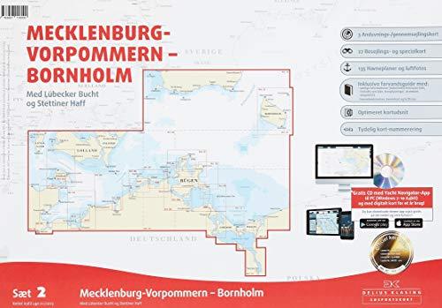 Sportbootkarten Satz 2: Mecklenburg-Vorpommern - Bornholm (Ausgabe 2019): Mit Lübecker Bucht und Stettiner Haff -