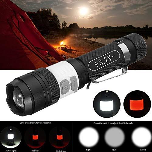 P12cheng LED-Taschenlampe, Handtaschenlampe, 20000 lm, wiederaufladbar, LED, 3 Modi, mit Clip, Schwarz (Maglite Led-taschenlampe-halter)
