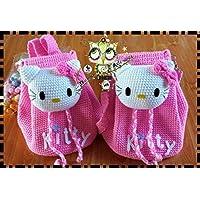 Mochila KITTY PERSONALIZABLE (Bebé, crochet, ganchillo, muñeco, peluche, niño,