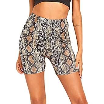Damen Elastizit/ät Shorts LeeMon Mesh Radlerhose Kurze Leggings Yogahose Sporthose Shorts mit Taschen f/ür Fitness