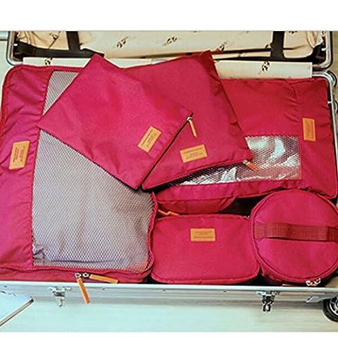 Camping Voyage Bagage Vêtements de rangement cosmétiques Chaussures Chaussettes Lot de 7