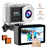 WiMiUS Action Kamera 4 K 6,2 cm LCD Touch Screen Unterwasser Sport Cam 1080P 16 MP Bike Helm Kamera...