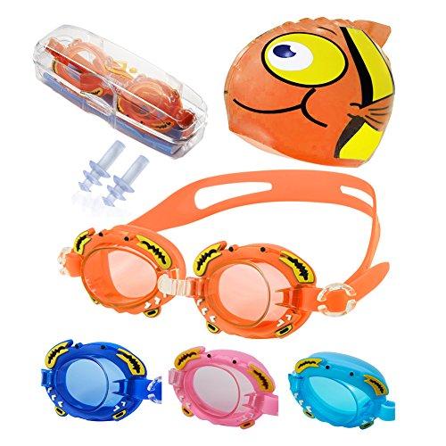 F-Y gafas de natación + gorro de natación + funda + tapones...