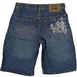 Levi's Kinder Sommer Shorts Hose Denim Jeans Blau Slim Straight Regular Fit 122