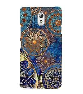 ifasho Designer Phone Back Case Cover Lenovo Vibe P1M :: Vibe P1m ( Green Blue Pattern )