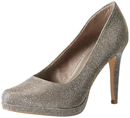 Tamaris Damen 22446 Pumps Silber (PLATINUM GLAM 970)