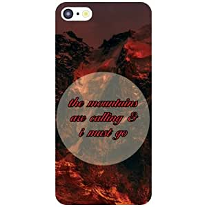 Apple iPhone 5C Back Cover - Its Mountains Designer Cases