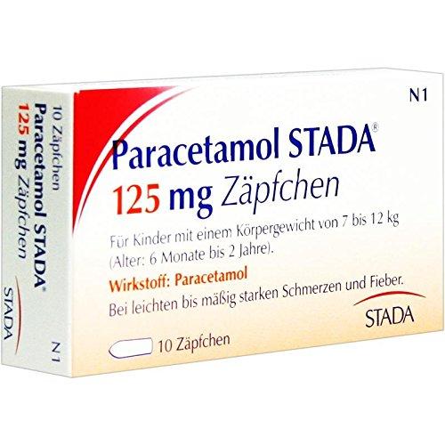 Paracetamol STADA 125mg 10 stk