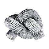 OOPPEN - Tubo flessibile di ventilazione in PVC da 5 m, in alluminio, diametro 125 mm, per aspiratori e idroponici, colore: grigio
