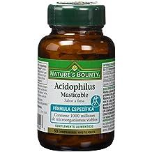 Natures Bounty Acidophilus Masticable Sabor Fresa - 60 Comprimidos