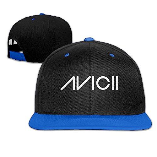 huseki Avicii Ture Logo Snapback Adjustable Hip Hop Gorra de béisbol/Tiene for Unisex Royal Blue