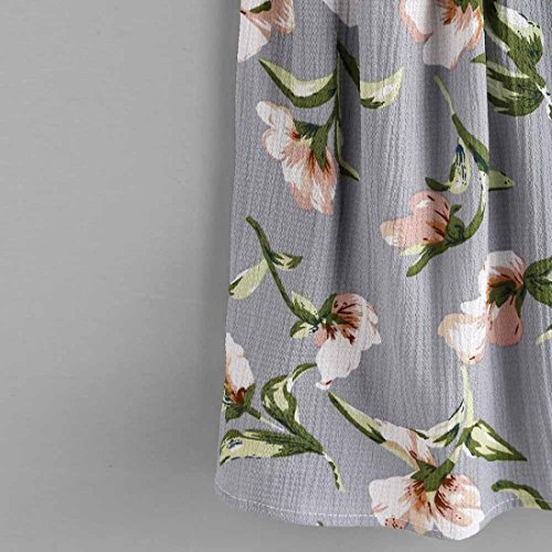 OverDose Damen Lace Chiffon Vest Top Sleeveless Casual Tank Blouse Summer Tops T-Shirt Spitze Weste Sommer Blusen B-B-Grau