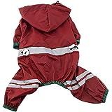 San Bodhi® Wasserdicht Haustier Kleidung Heavy Duty Regenmantel Hoodies Mantel für kleine Hunde
