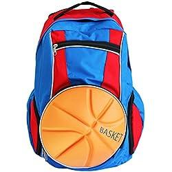 diapolo Baloncesto Mochila Bolso deportivo (Varios Colores Composición, royalblau-rot