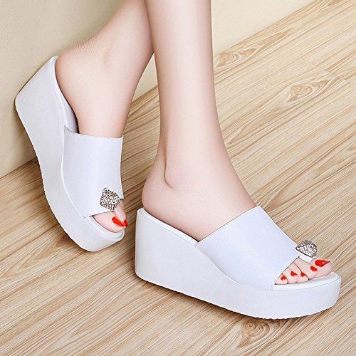 ZPPZZP Ms sandali pantofole trapano artificiale operazioni di mantenimento della pace con kit di pendenza spessa 39EU