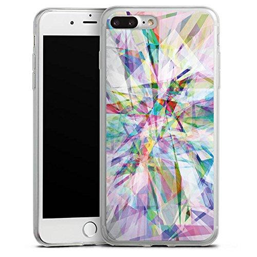 Apple iPhone 8 Slim Case Silikon Hülle Schutzhülle Kristall Prisma Regenbogen Silikon Slim Case transparent