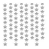 Newin Star Stern Girlande, Stern Banner Papier Hängende Dekoration für Hochzeit Urlaub Party Geburtstag Zimmer Deko, 4 m, Silber