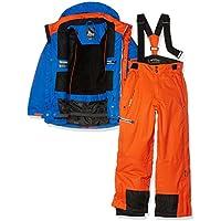 Peak Mountain Ecosmic - Conjunto de esquí para niño, Niño, Color Azul y Naranja, tamaño 5 Años (Talla del Fabricante : 5 Años)