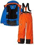 Peak Mountain - Completo maschile da sci, Ecosmic, Ragazzo, Blu/Arancione, 16 anni