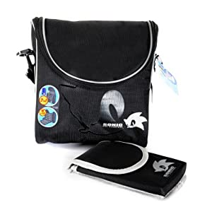 NEW! Sonic The Hedgehog 2-in-1 3DS Duo Traveller Case 3DS DSi DS Lite Black