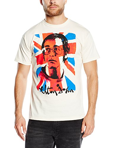 Elton John Men's Union Jack Short Sleeve T-Shirt
