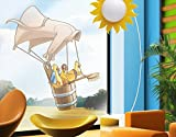 Fenstersticker Fliegender Bauernhof Küken WandSticker WandTattoo Fliegender Fenstersticker Fensterfolie Fenstertattoo Fensterbild Fenster-Deko Fensteraufkleber Fensterdekoration Glas-Sticker Größe: 132cm x 122cm