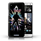 Coque de Stuff4 / Coque pour HTC One/1 Mini / Elvis Noir Design / Rock Star Pose...