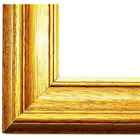 Cornice Clever Line 8500 rovere marrone 5,0 - senza vetro 80 x 90 cm Quadro vuoto - molte misure - altre varianti con luce normale vetro, Museum vetro, Plexiglas disponibili in negozio - anticato